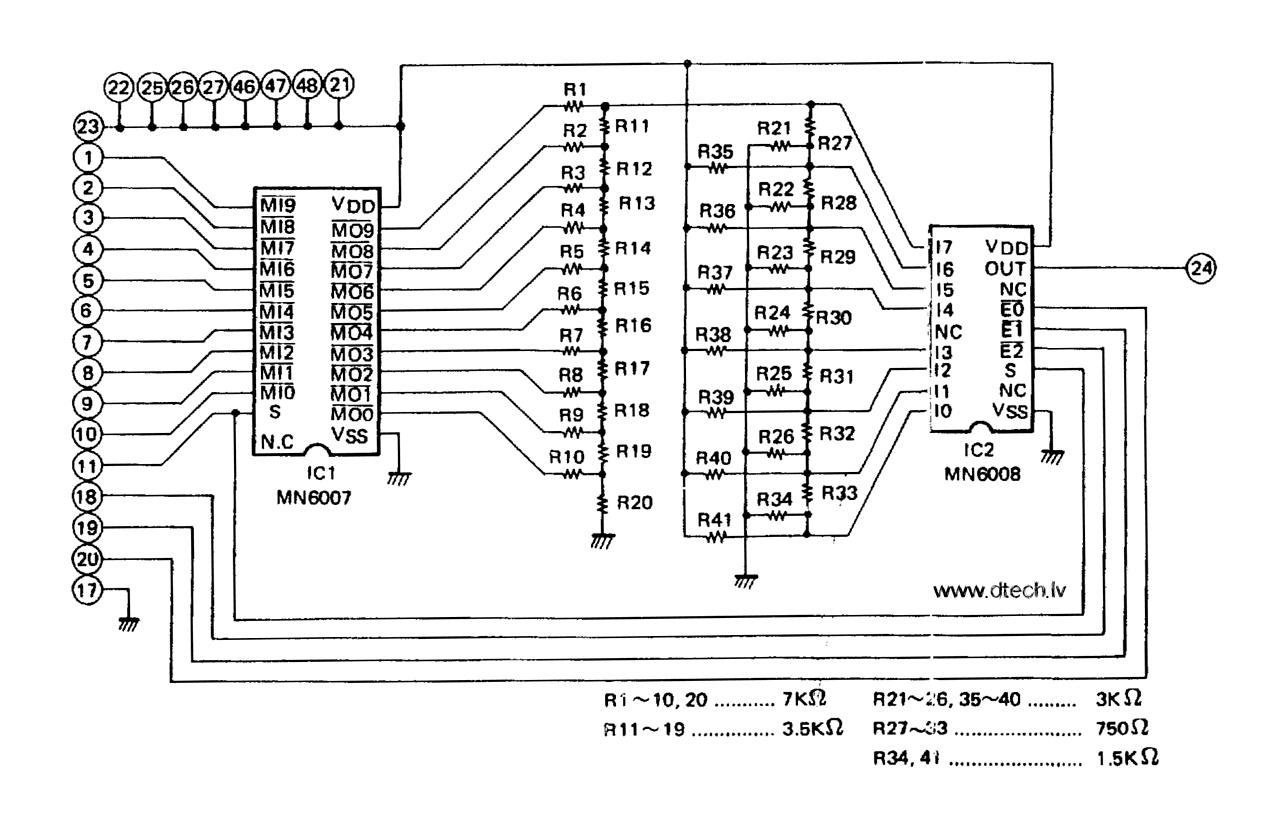 Edward D Tech Website Music Keyscan Wiring Diagram Schematic With Pinout