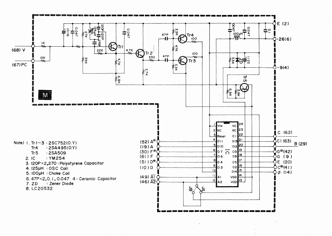 Edward D Tech Website Music Tone Generator Circuit Diagram Reference Frequency Divider